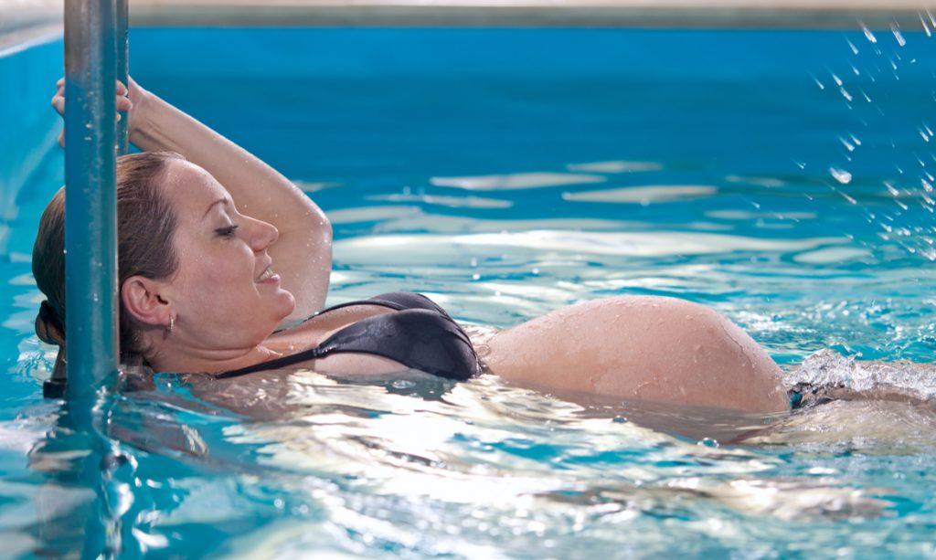 natação na gravidez