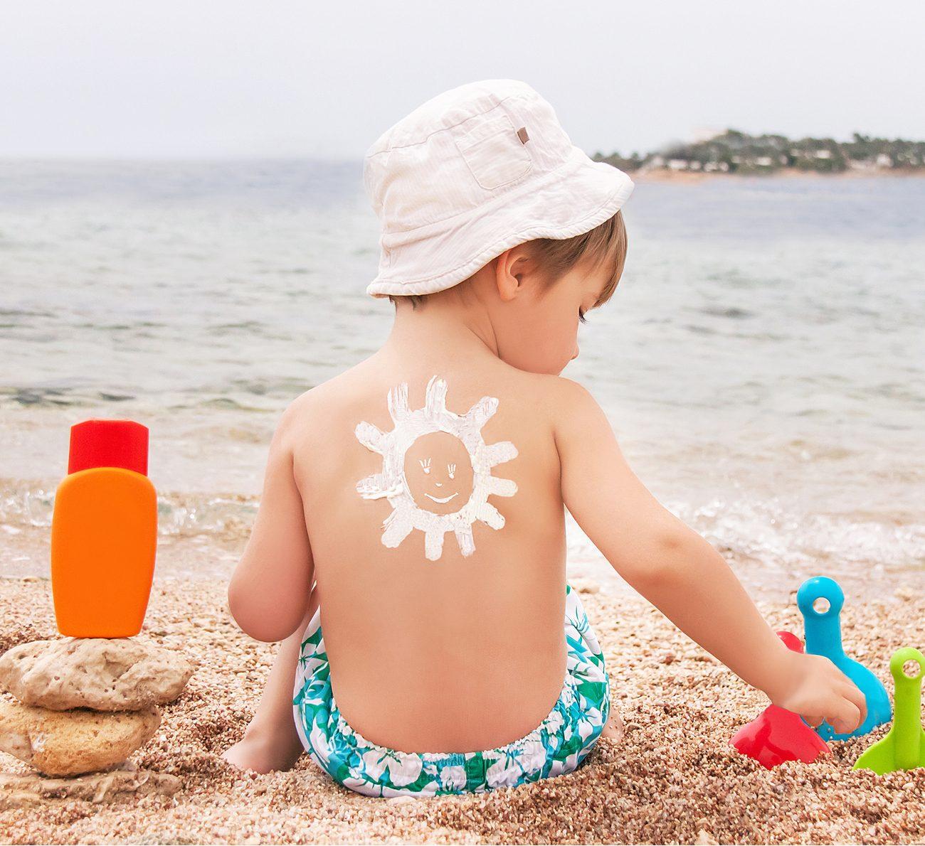 protetor solar para bebês