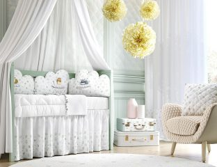 quarto de bebê floral